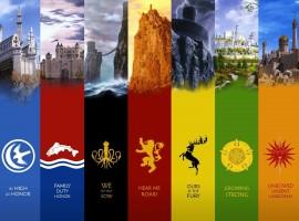 Game of Thrones Houses High Res Desktop Wallpaper