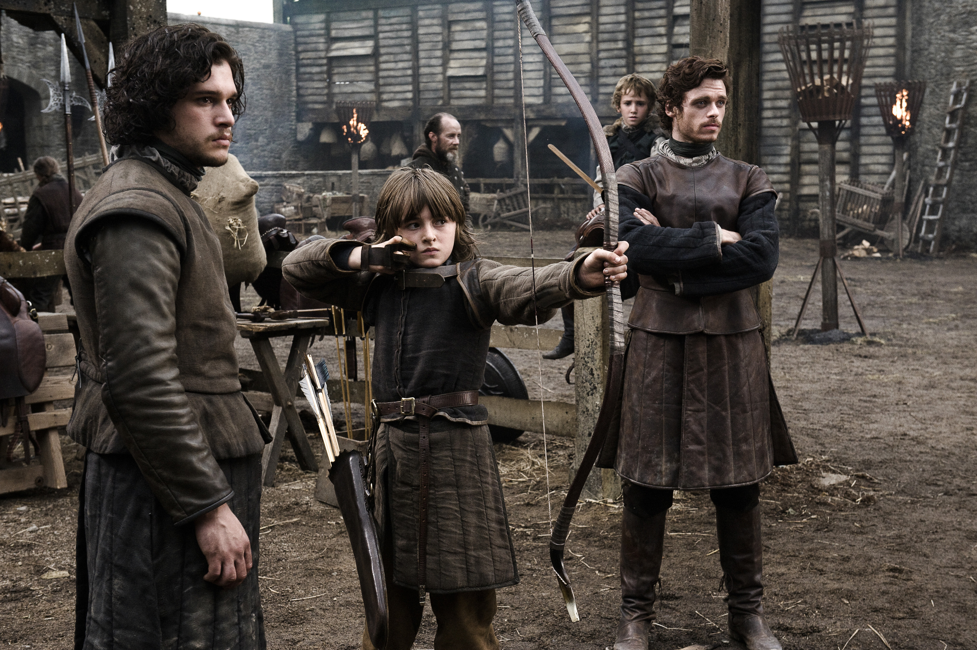 robb & bran stark with brother jon snow game of thrones' HD wallpaper