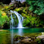 Serene Desktop Waterfall Wallpaper