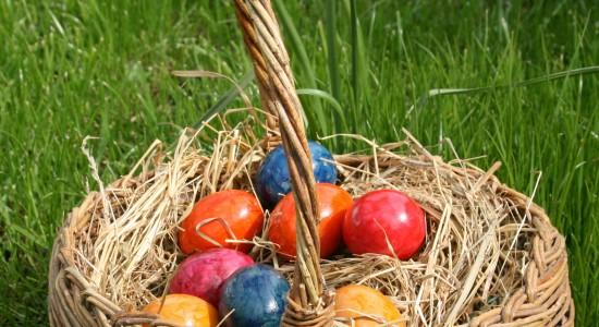 Basket Full of Easter Eggs Wallpaper