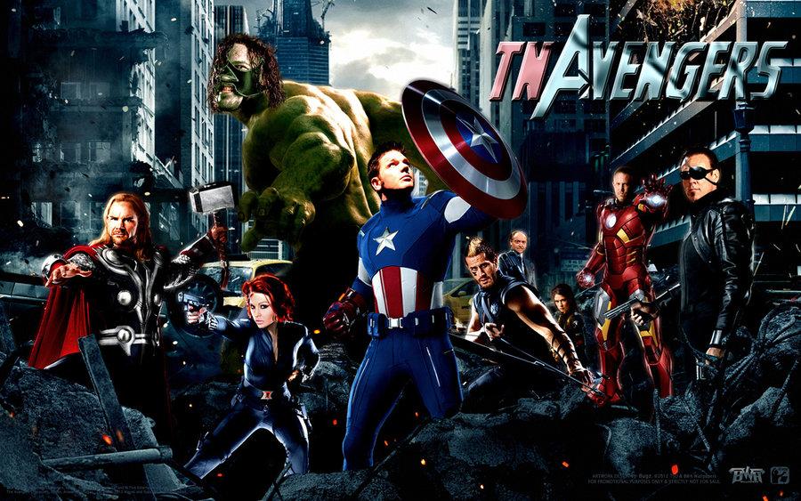 Marvel's High Resolution Avengers Background