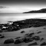 Black and White beach wallpaper