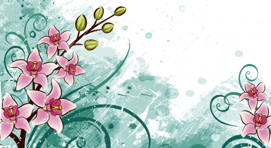 Floral-cartoon-wallpaper