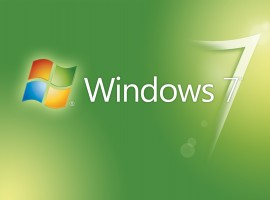 Greenish Windows 7 Logo Wallpaper