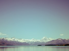 Blue Sky, Snowy Mountains