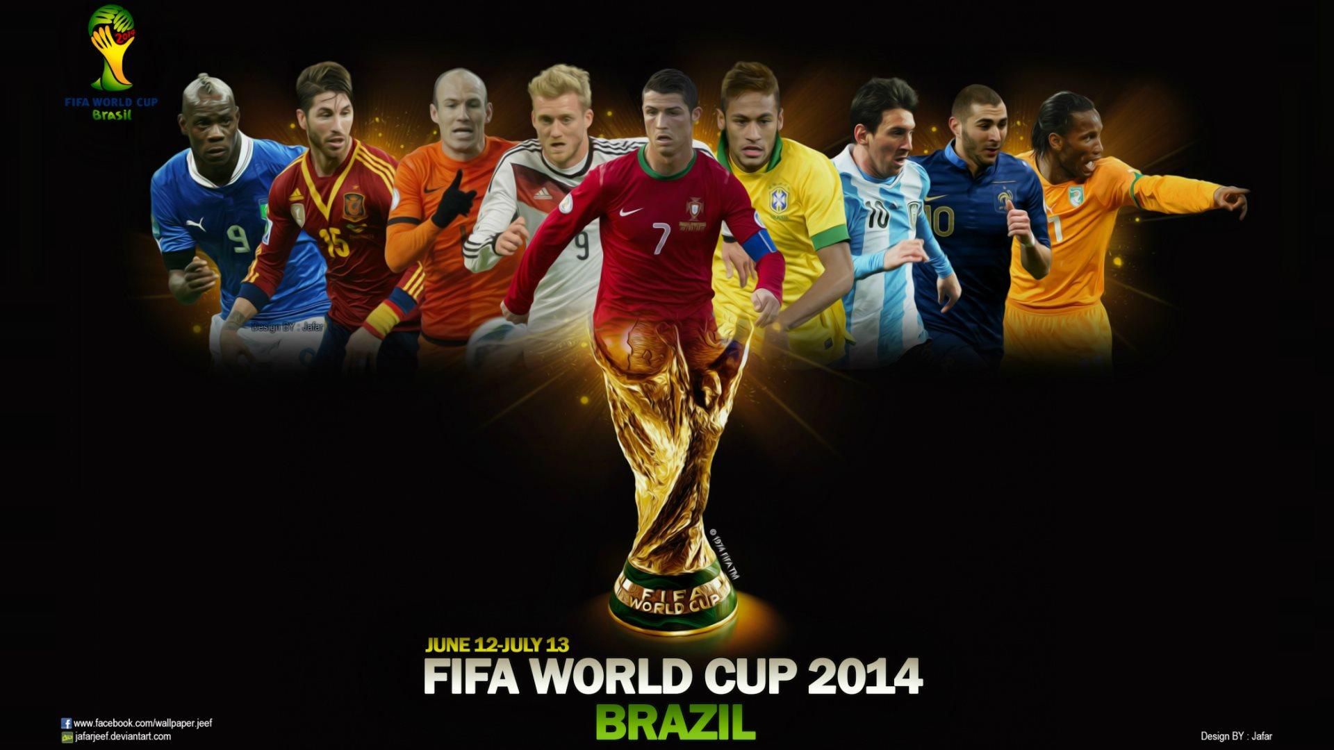 Brazil 2014 World Cup Players