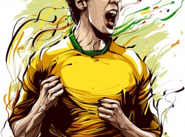 Cristiano Siqueira Football Player Illustration