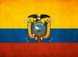 HD Ecuador Flag Wallpaper