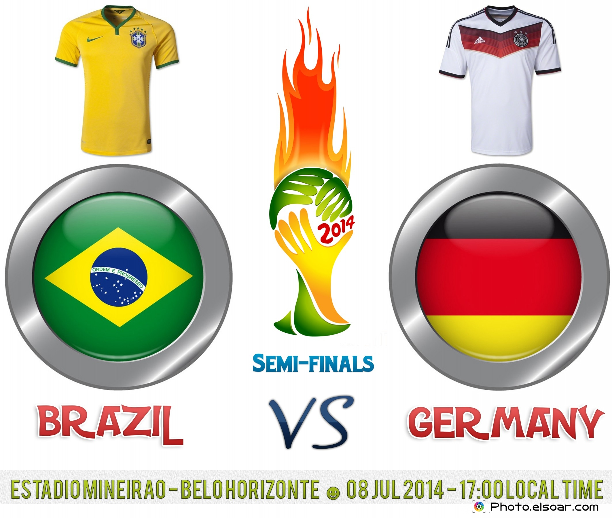 Brazil Vs Germany World Cup 2014 Semi-Finals
