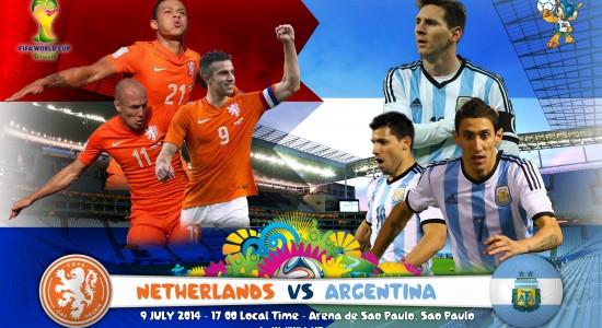 Netherlands Vs Argentina World Cup 2014 Semi-Finals