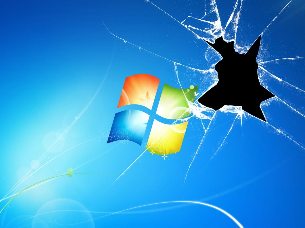 Cracked Windows Wallpaper