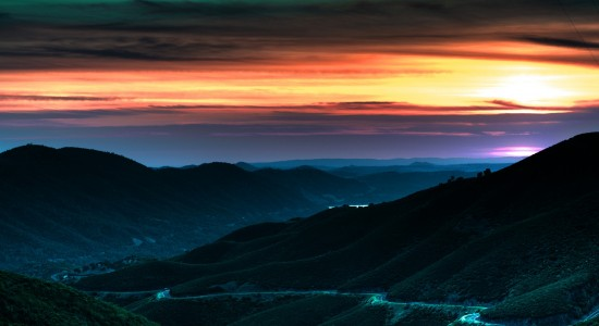 Sunset Down the Valley