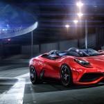 Sleek Red Sports Car Wallpaper