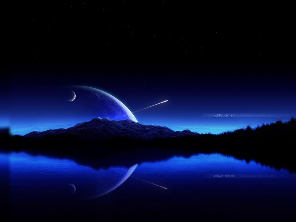 Blue Sky Wallpaper Hd: Blue Sky Shooting Star