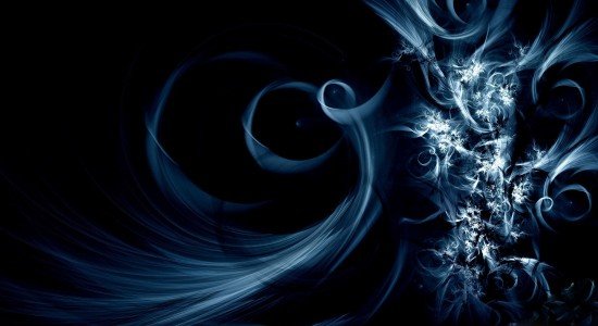 Blue Spiral Effect Wallpaper