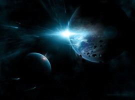 Deep Blue Space Scene