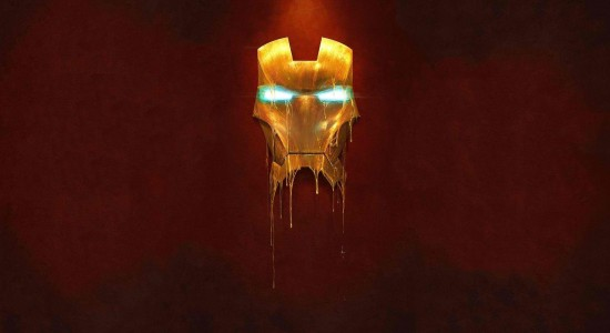 Melting Iron Man Mask