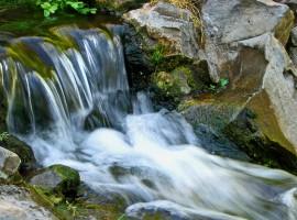 Serene Rocky Waterfall