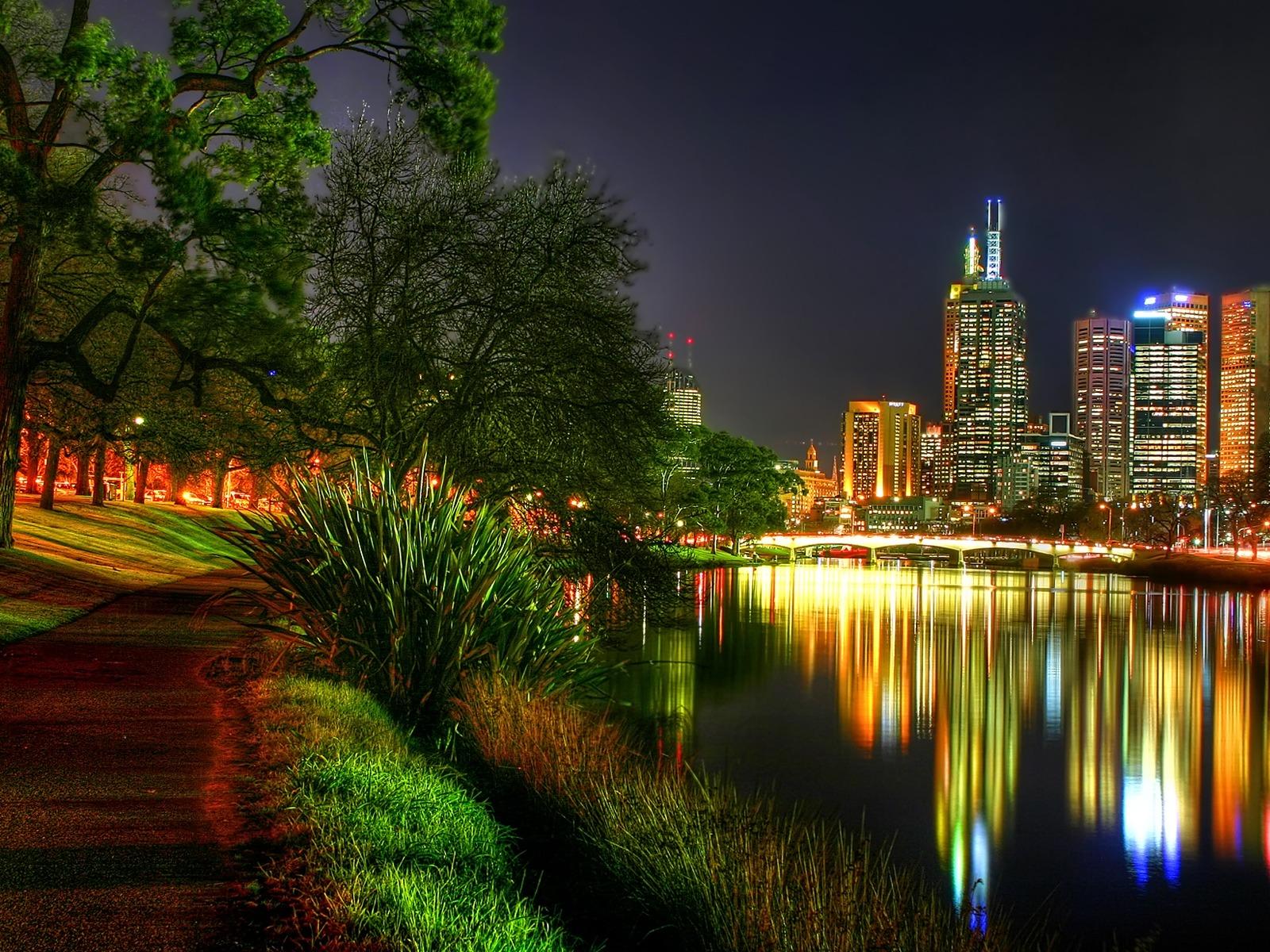 Glowing City Night