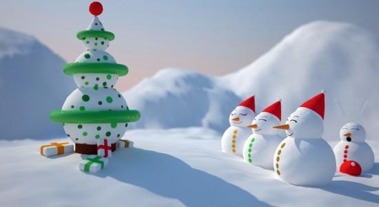snowman-christmas-wallpaper