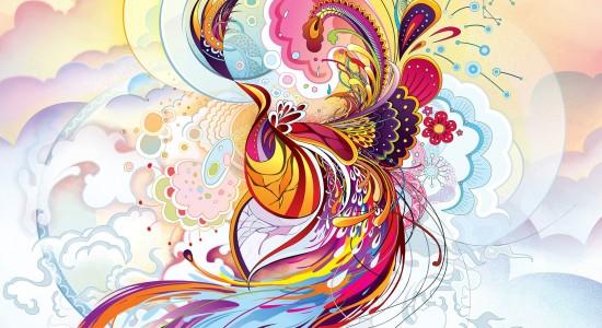 High resolution abstract phoenix wallpaper