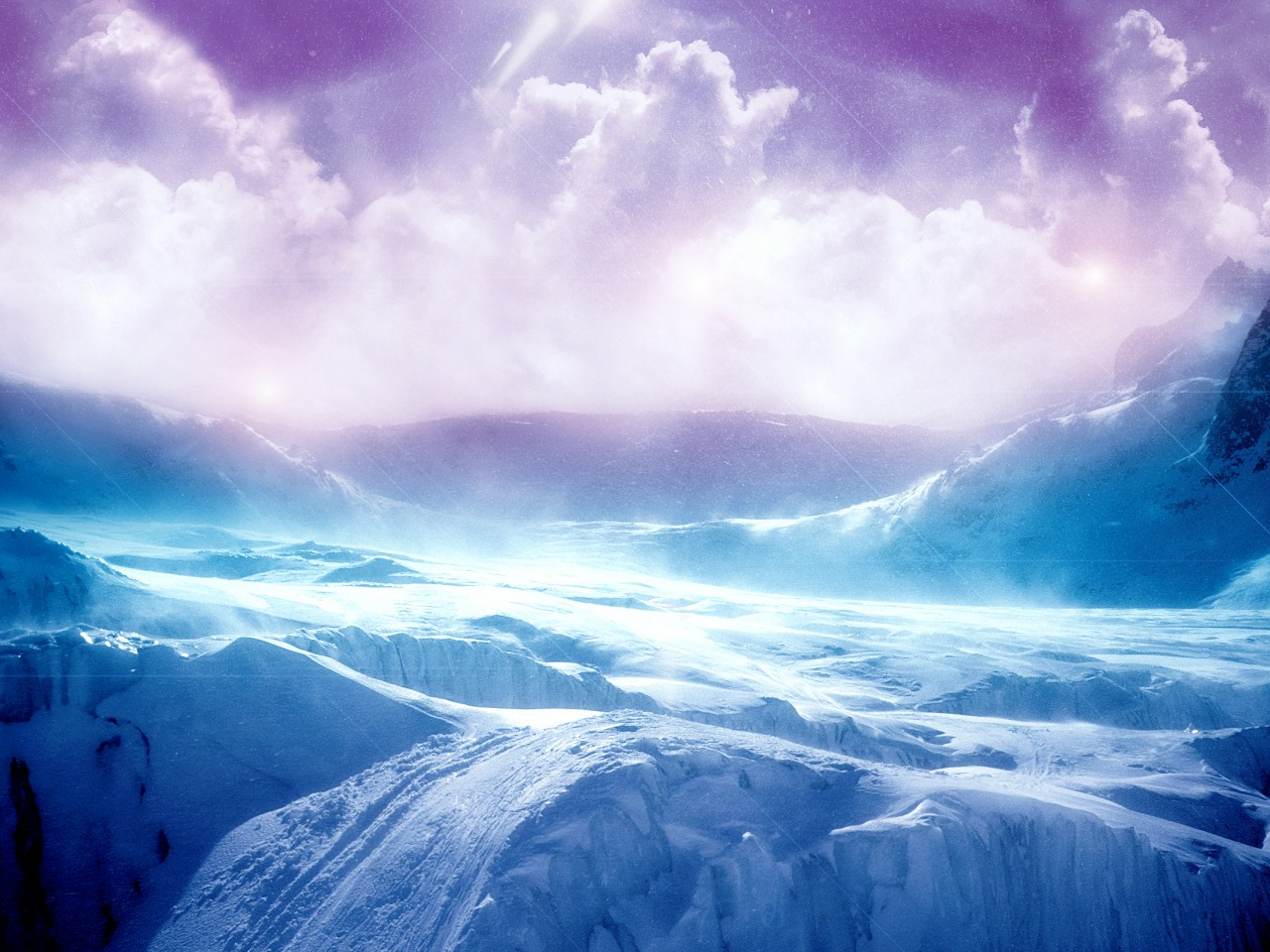 High Resolution Ice Terrain Wallpaper