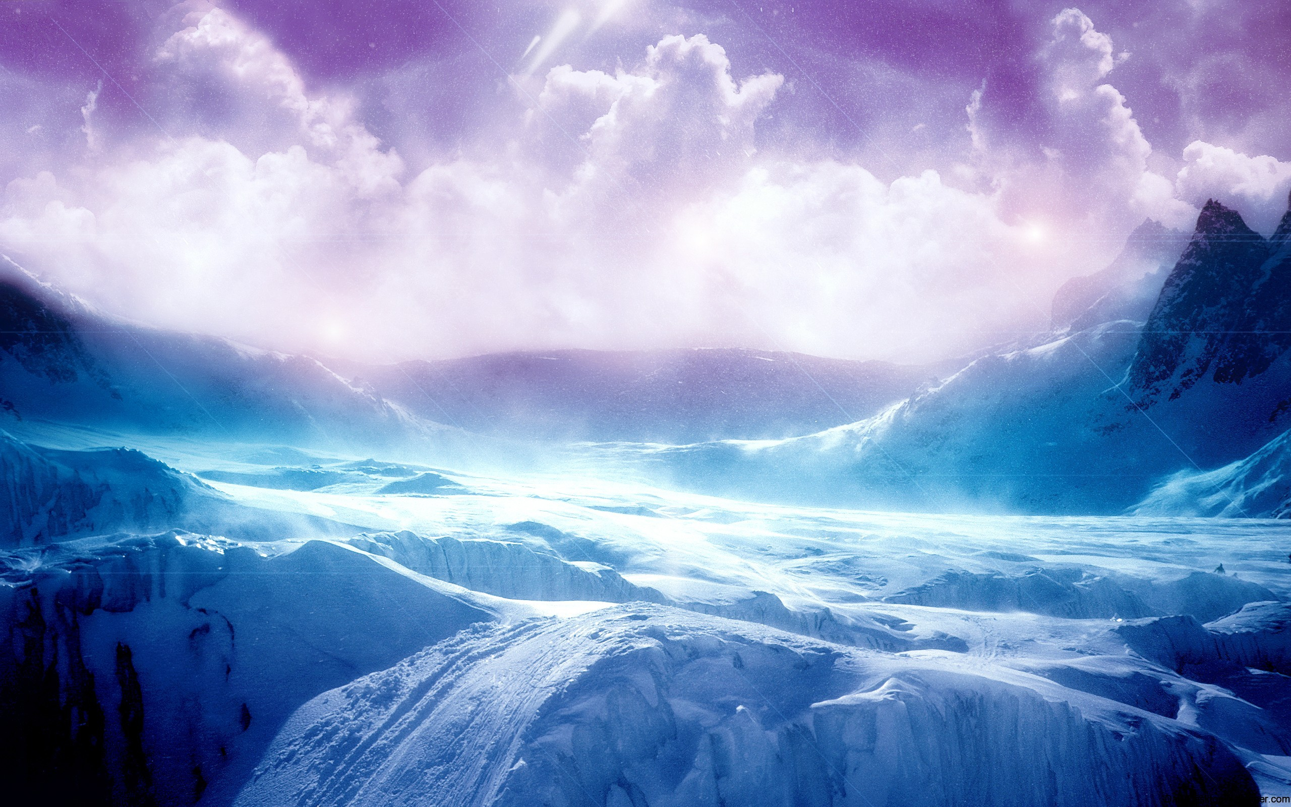 High resolution ice terrain wallpaper