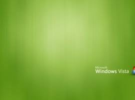 Green windows vista high resolution wallpaper