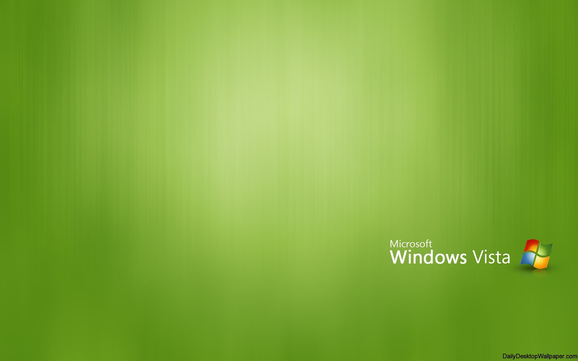 Green windows vista high resolution wallpaper