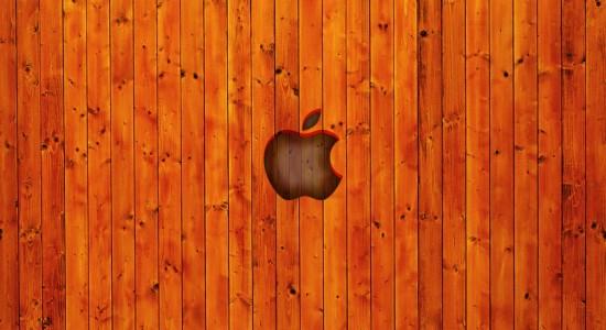 Apple Wooden Wallpaper