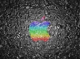 Distorted Apple wallpaper