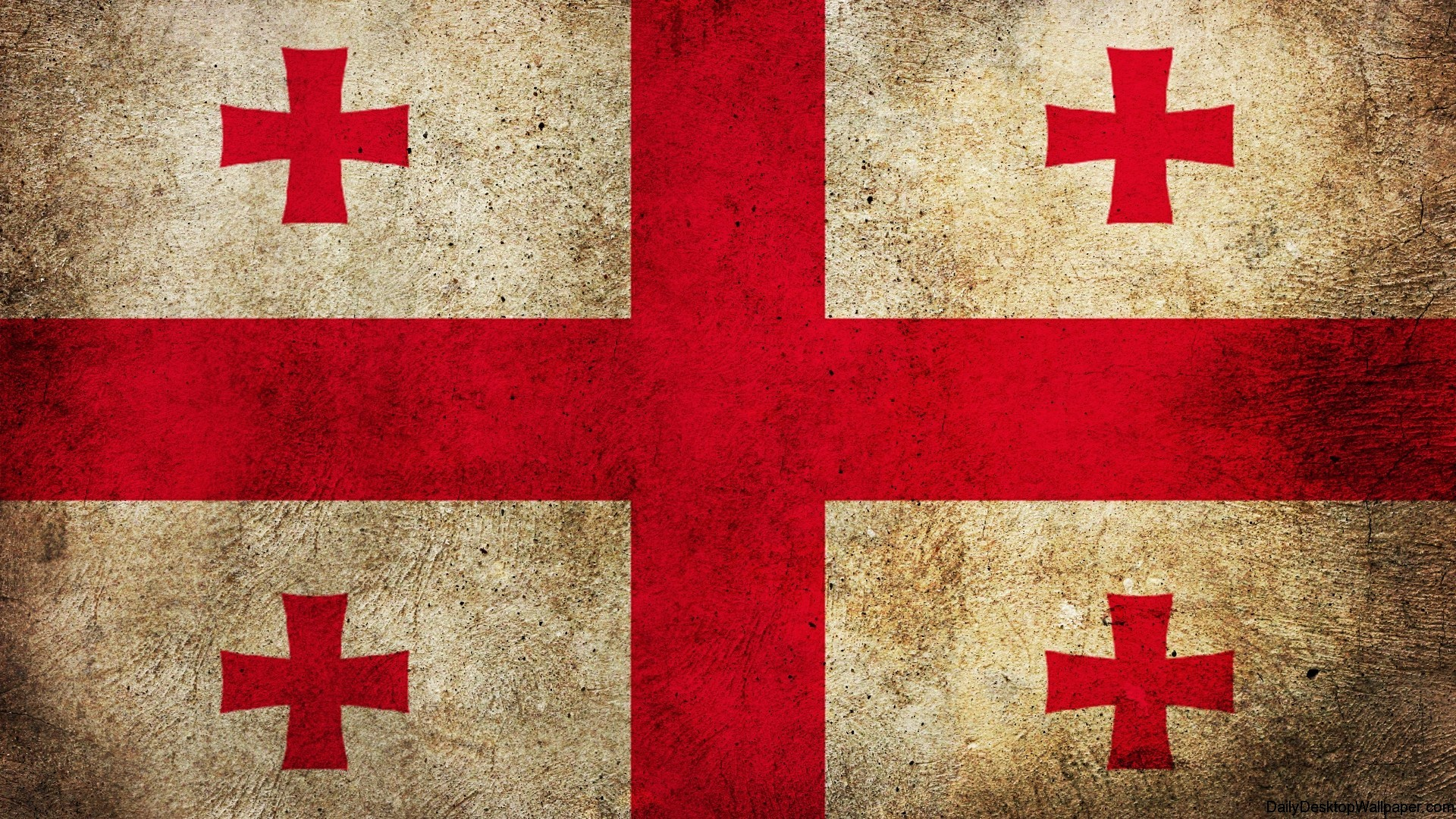 Georgia Flag Wallpaper