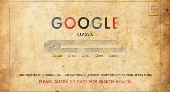 Google postcard wallpaper