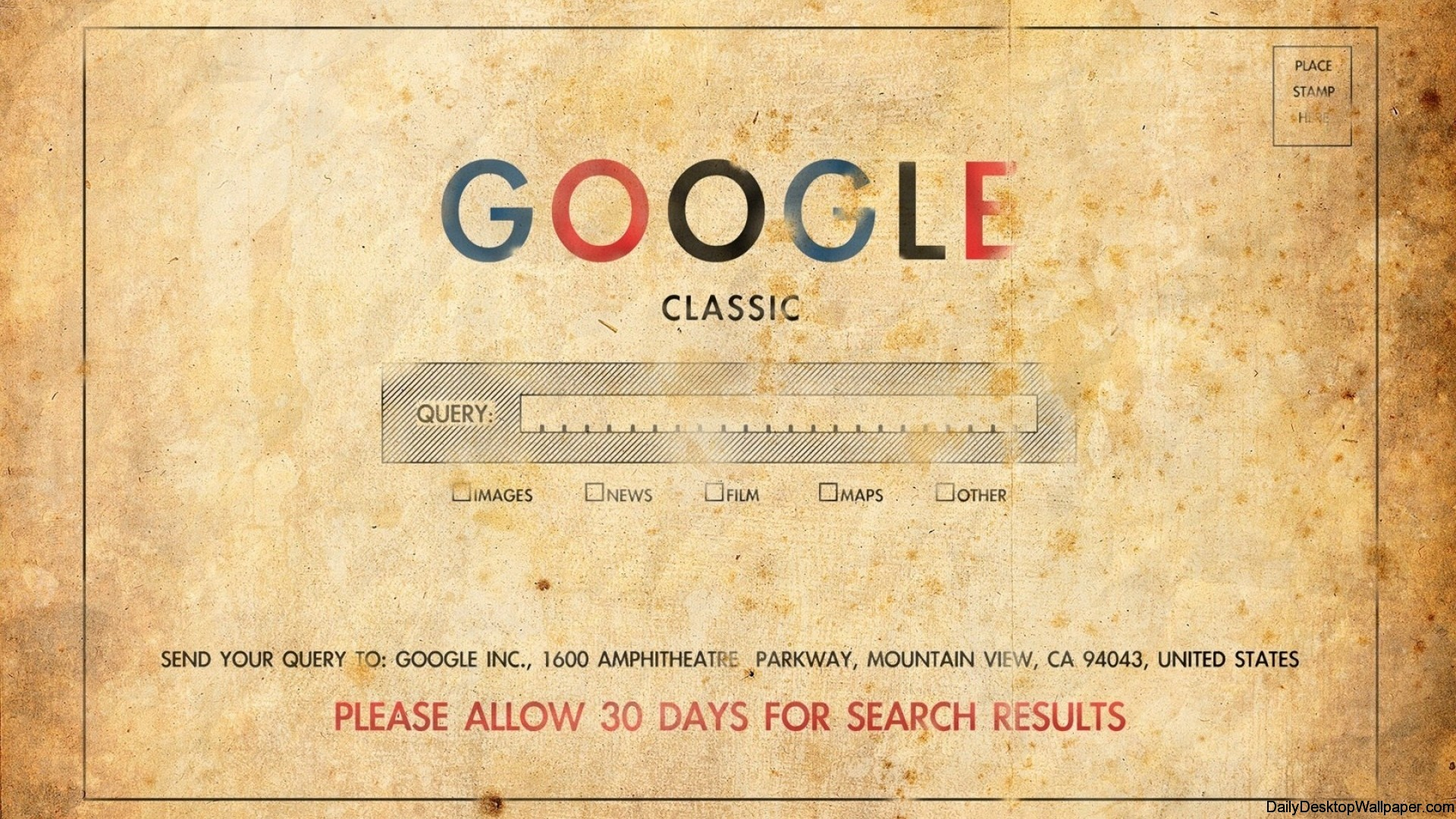 Google postcard wallpaper