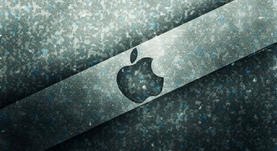 Icy Apple Logo wallpaper
