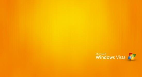 Orange Windows Vista Wallpaper