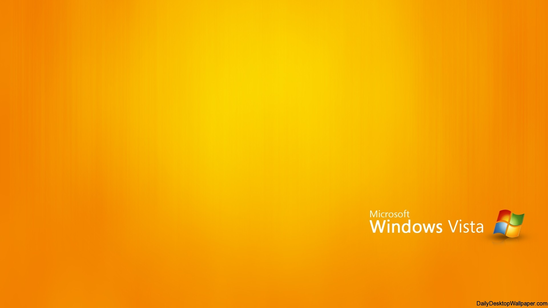 Orange Windows Vista Wallpaper
