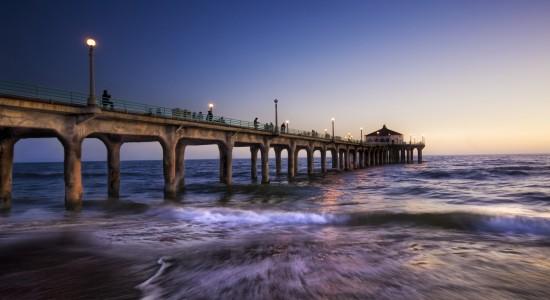 Sea pier wallpaper