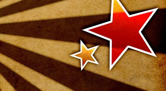 Stripey star wallpaper
