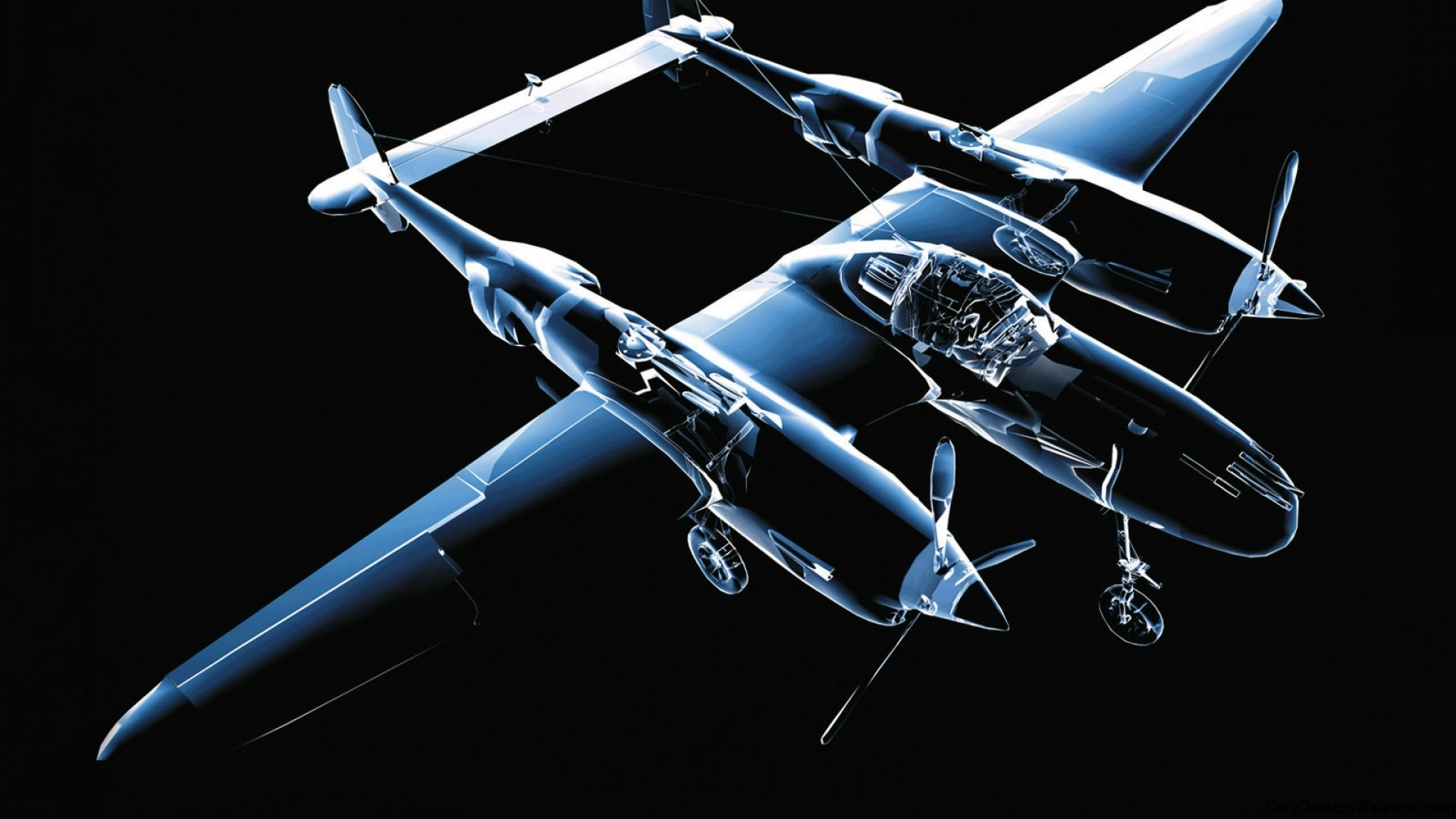 3D Aircraft wallpaper