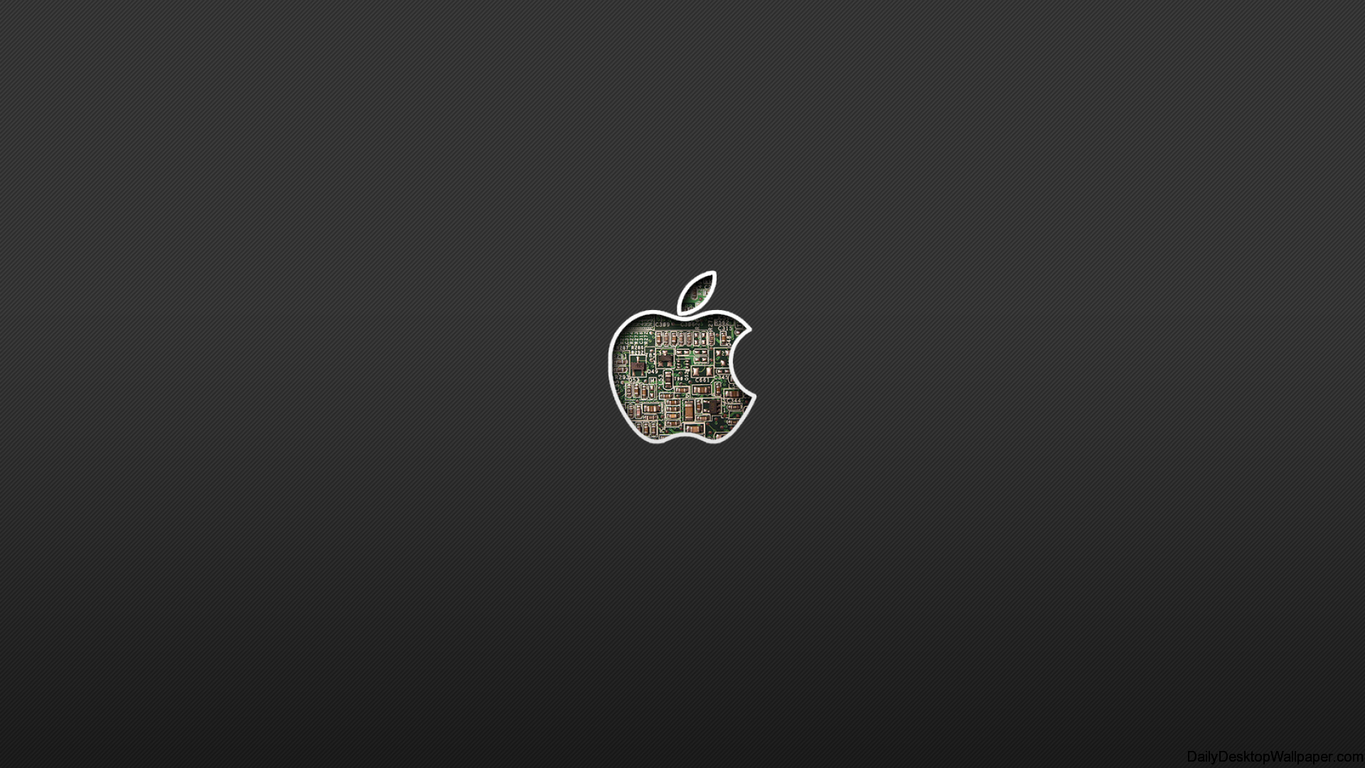 Internal hardware apple logo