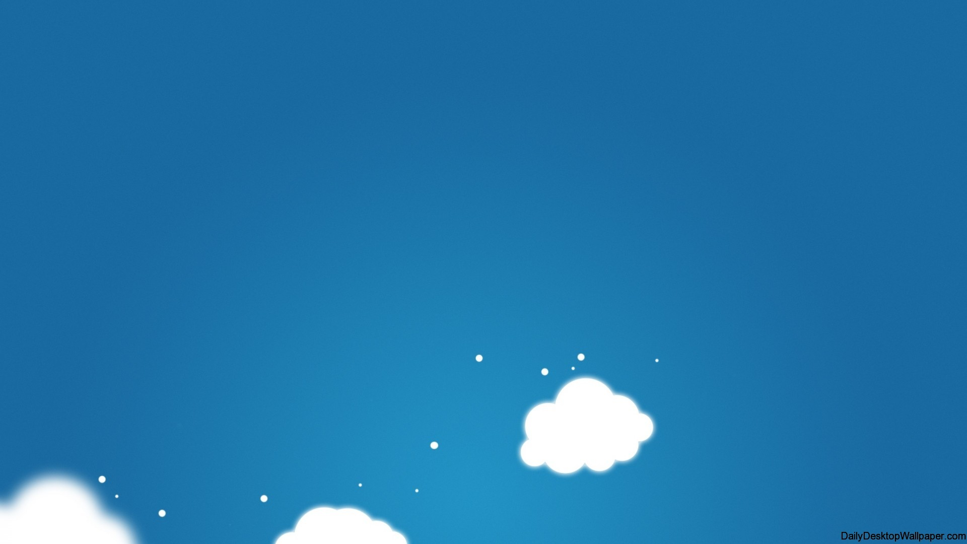 Minimal cartoon cloud wallpaper