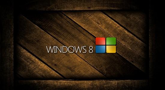 Windows 8 wooden wallpaper