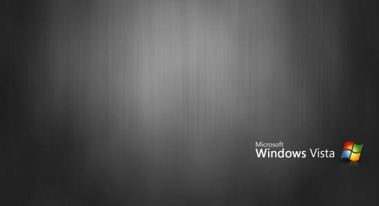Black Windows Vista Wallpaper