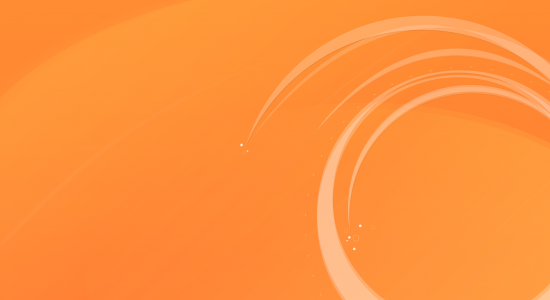 Circular Orange Wallpaper