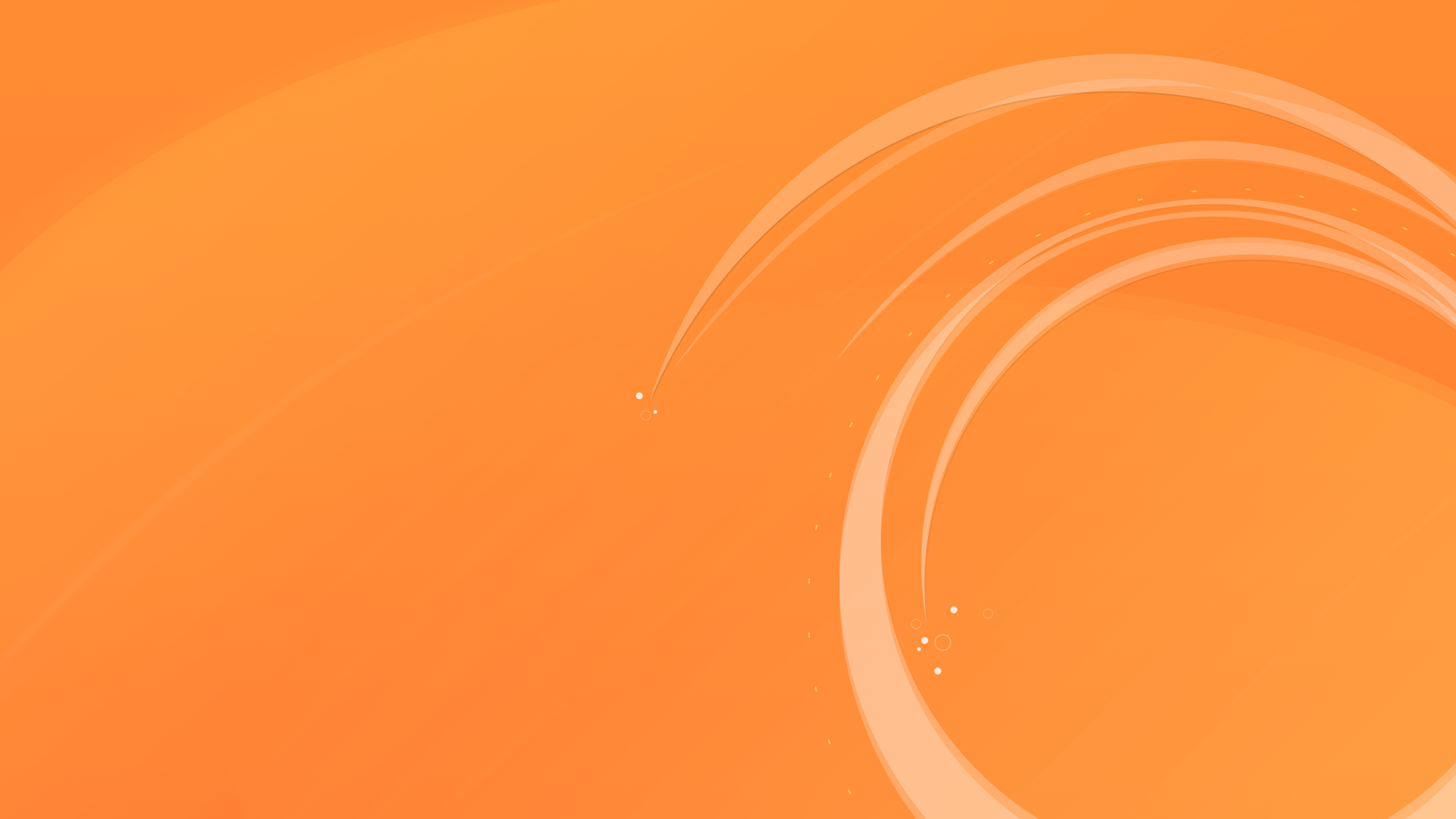Circular Orange Wallpaper