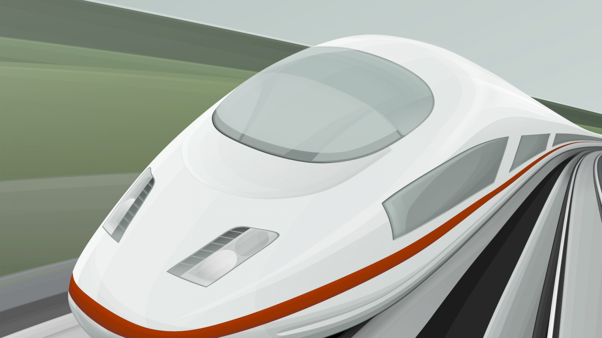 High speed cartoon train wallpaper