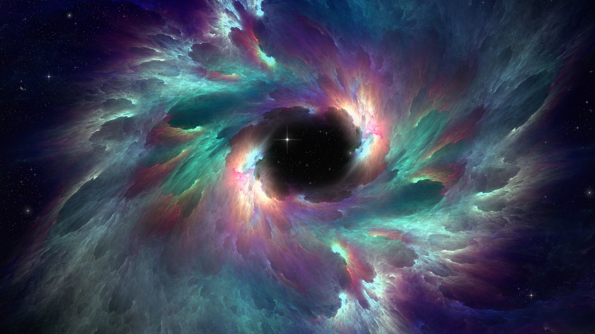 Iridescent Nebula Wallpaper