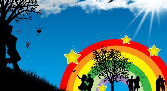 Vector rainbow Wallpaper