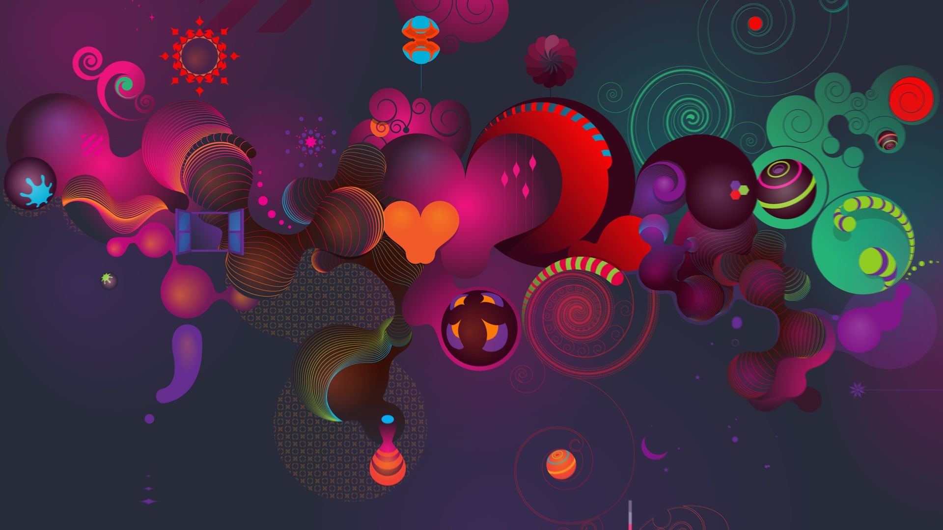 Abstract Cartoon Wallpaper